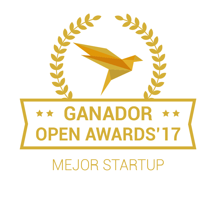 Sello mejor Startup 2017 de Open Awards